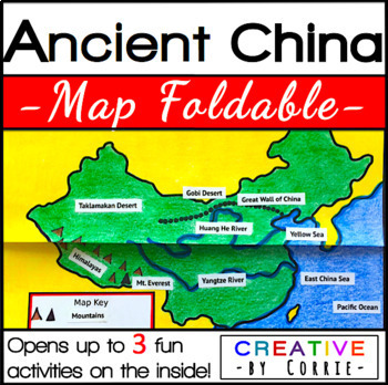 Ancient China Map Foldable for Interactive Notebooks