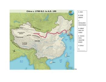 Ancient china map quiz by middle school world history tpt ancient china map quiz gumiabroncs Images