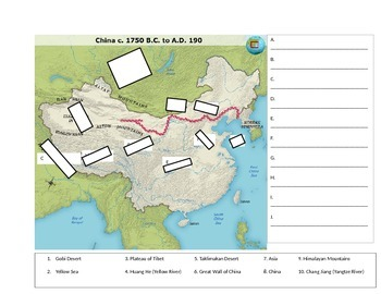 Ancient China Map Quiz by Middle School World History | TpT
