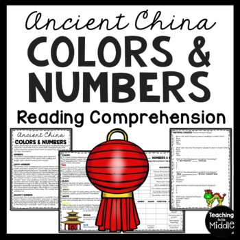 Ancient China Numbers and Colors Reading Comprehension