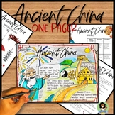 Ancient China One Pager Activity