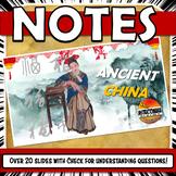 Ancient China PowerPoint NOTES Zhou, Shang, Qin, Han, and Shang Dynasties