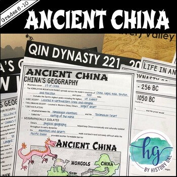 Ancient China PowerPoint and Guided Notes {Xia,Shang,Zhou,