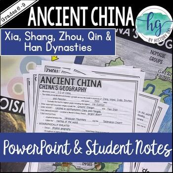 Ancient China PowerPoint and Guided Notes {Xia,Shang,Zhou,Qin,Han}