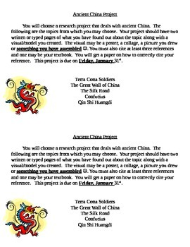 Ancient China Project (editable)