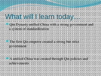 Ancient China Qin Dynasty PowerPoint
