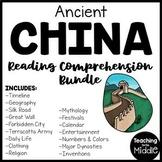 Ancient China Reading Comprehension Informational Text Worksheet Bundle