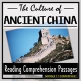 Ancient China Reading Comprehension- The Culture of China! (Distance Learning)