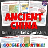 Ancient China Reading Packet and Worksheet