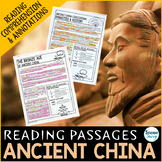 Ancient China Reading Passages - Questions - Annotations