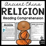 Ancient China Religion Reading Comprehension Informational Text Worksheet