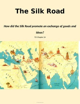 picture relating to Silk Road Map Printable named Historical China Silk Highway Worksheet/ Imagine Sheet TCI Ch 24