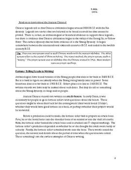 Ancient China (Social Studies / History)