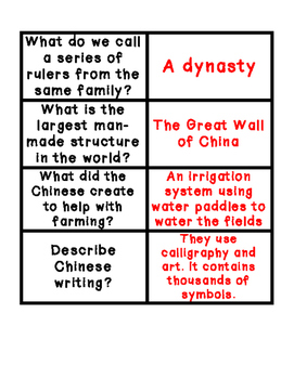 Ancient China Sort