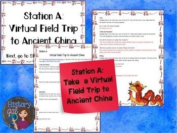 Ancient China Stations Activity