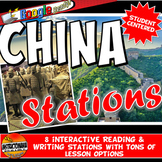Ancient China Stations with Key Questions Graphic Organizer or Task Cards