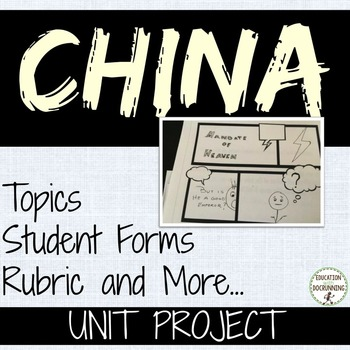 China Student-centered unit project for China Unit