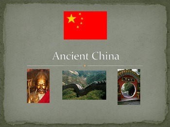 Ancient China Study Guide