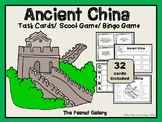 Ancient China Task Cards & Bingo Game