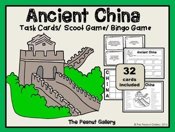 Ancient China Task Cards & Bingo Game