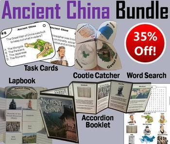 Ancient China Task Cards and Activities Bundle