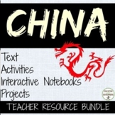 China Activities, Interactive Notebook and Project