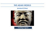Ancient China - Teaching Program, Resources, Assessment Pa