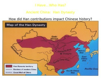 "Ancient China:  The Han Dynasty Contributions Review Game ""I Have, Who Has?"""