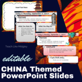 Ancient China Themed PowerPoint Slides