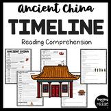 Ancient China Timeline Reading Comprehension Informational Worksheet