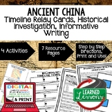 Ancient China Timeline Writing, Print & Digital Distance Learning