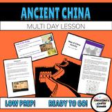 Ancient China UNIT PLAN