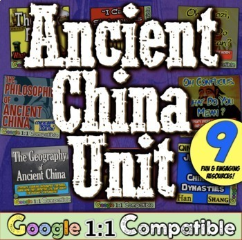 Ancient Civilizations China Unit: Ancient China Geography, Dynasties, Philosophy