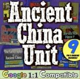 Ancient China Activities World History Unit | 9 Ancient Ci
