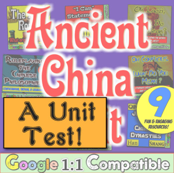 Ancient China Test! 35 questions to accompany History with Mr E China Unit!