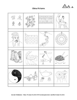 Ancient China Unit in Pictures for Special Ed., ELL and ESL Students