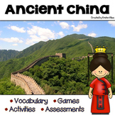 Ancient China Vocabulary, Activities, Assessments and Games
