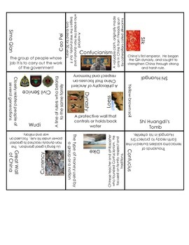 Ancient China Vocabulary People and Places Puzzle