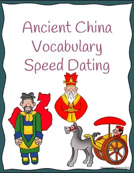 Ancient China Vocabulary Speed Dating