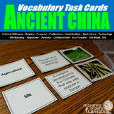 Ancient China Vocabulary Task Cards