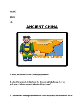 Ancient China WS