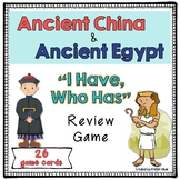 "Ancient China and Ancient Egypt Review Game ""I Have, Who Has"""