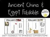 Ancient China and Egypt Foldable