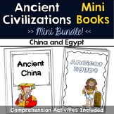 Ancient China and Egypt Mini Books with Comprehension Activities
