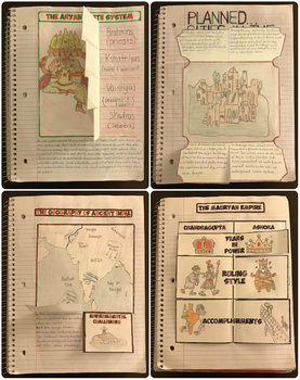 Ancient China and the Indus River Valley Interactive Notebook