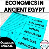 Ancient Egypt economics activities interactive notebook