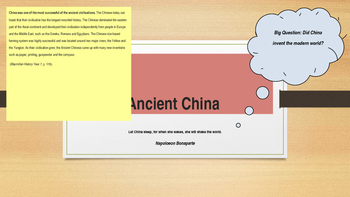 Ancient China introduction PPT lesson