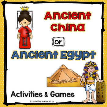 Ancient China and Ancient Egypt Activities and Games