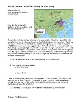 Ancient China worksheets by Allison Bertels Baumgartner   TpT
