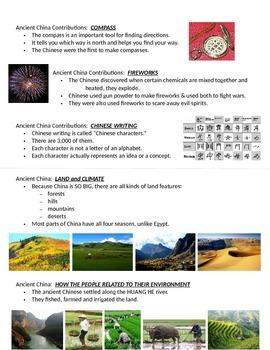 Ancient China_Journal Notes_2nd Grade